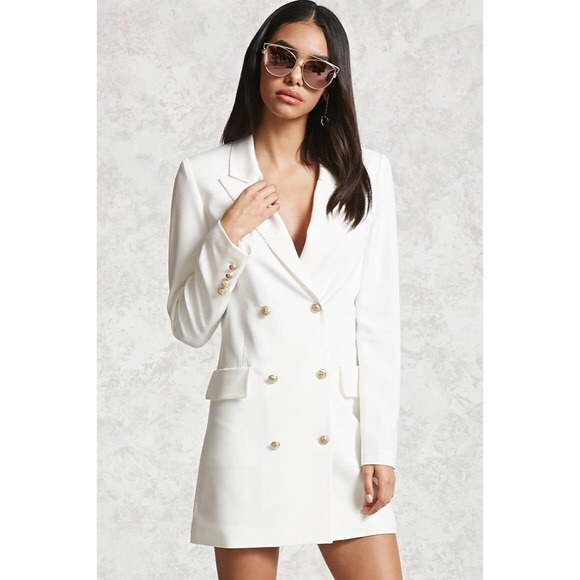127e42993fc Forever 21 Double Breasted Blazer Dress. M 5b9922112e1478862c3c5762